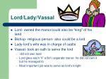 lord lady vassal
