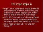 the pope steps in