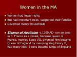 women in the ma