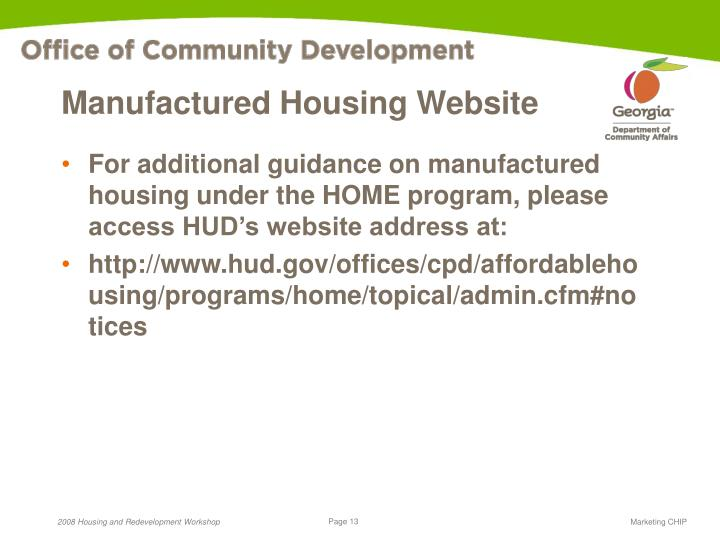 Manufactured Housing Website