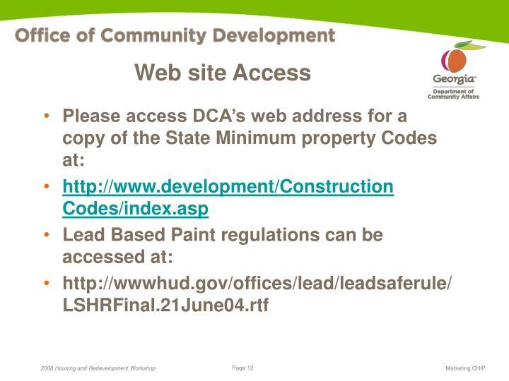Web site Access