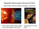 magnetic reconnection across the hcs