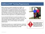 additional dot training requirements