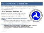 discovery the roles of osha dot