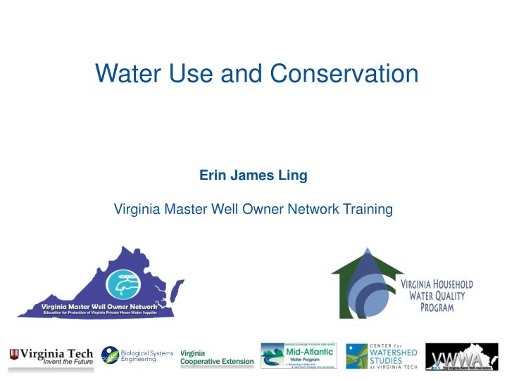 water use and conservation n.