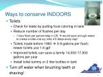 ways to conserve indoors