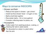 ways to conserve indoors1
