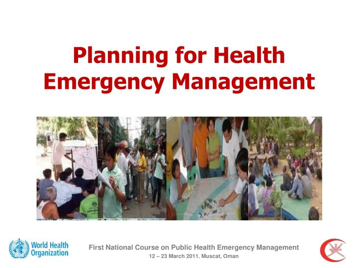 planning for health emergency management n.