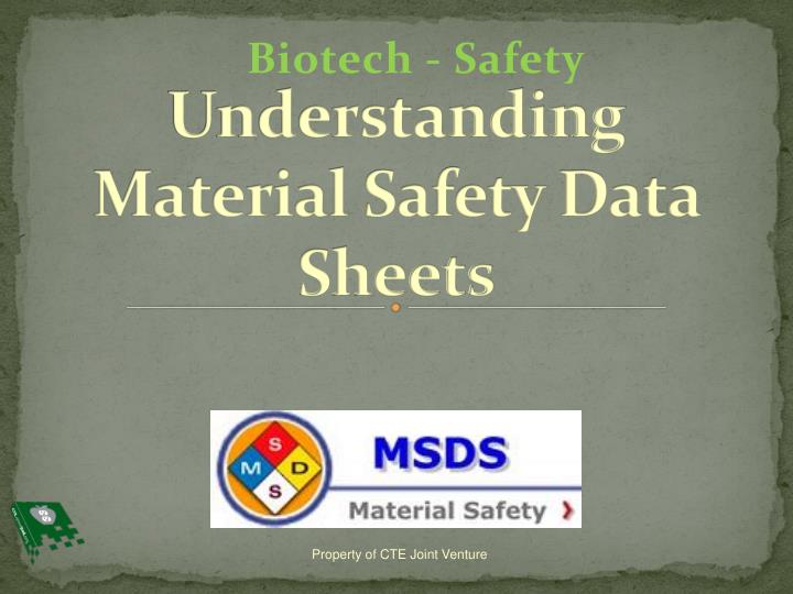 understanding material safety data sheets n.