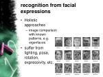 recognition from facial expressions