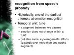 recognition from speech prosody
