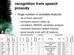 recognition from speech prosody2