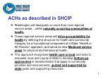 achs as described in shcip