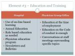 element 3 education and training