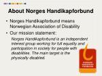 about norges handikapforbund