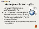 arrangements and rights