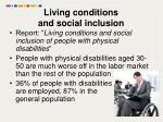 living conditions and social inclusion