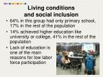 living conditions and social inclusion1