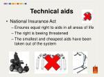 technical aids
