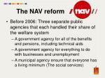 the nav reform
