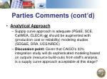 parties comments cont d2