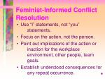 feminist informed conflict resolution