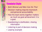 feminist style