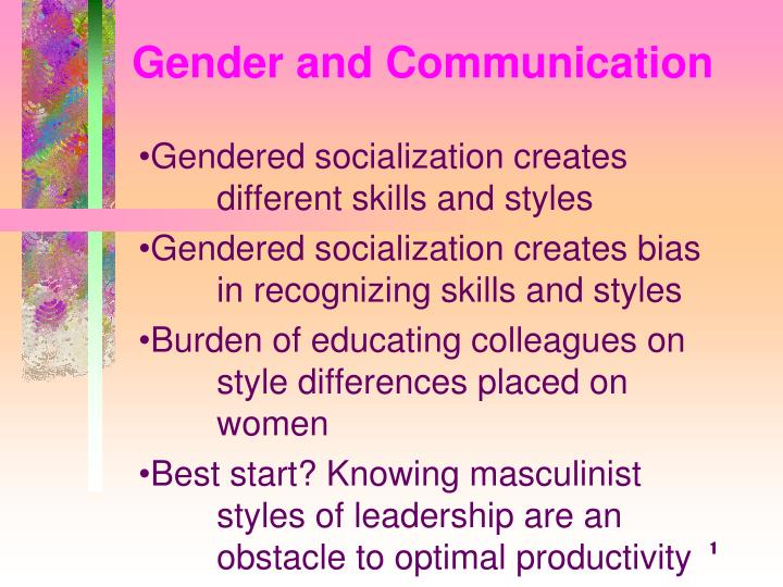 gender and communication n.