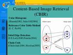 content based image retrieval cbir