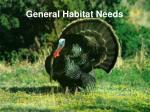 general habitat needs