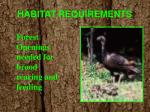 habitat requirements1