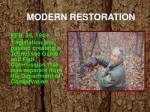 modern restoration