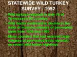 statewide wild turkey survey 1952