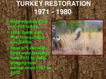 turkey restoration 1971 19801