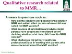 qualitative research related to mmr