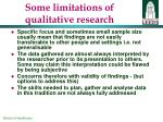 some limitations of qualitative research