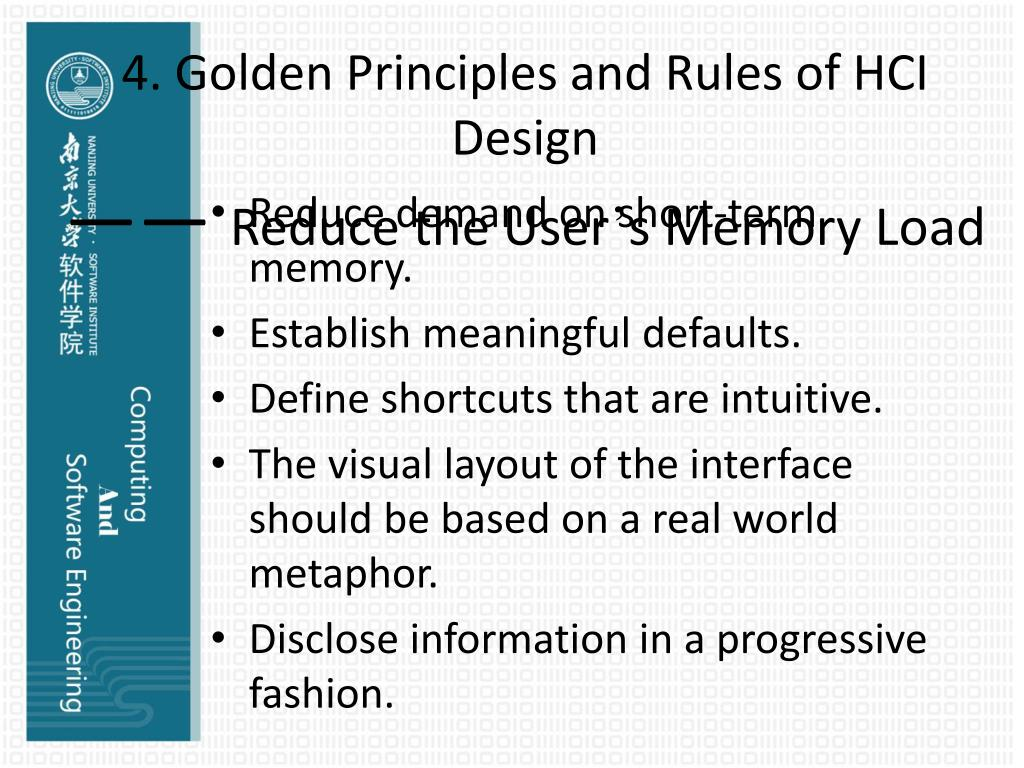 Ppt Computing And Se Ii Chapter 10 Hci Human Computer Interface Design Powerpoint Presentation Id 5631730