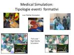 medical simulation tipologie eventi formativi