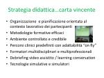 strategia didattica carta vincente
