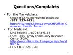 questions complaints