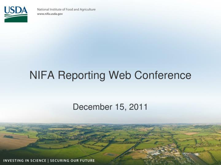 nifa reporting web conference n.