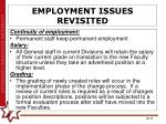 employment issues revisited