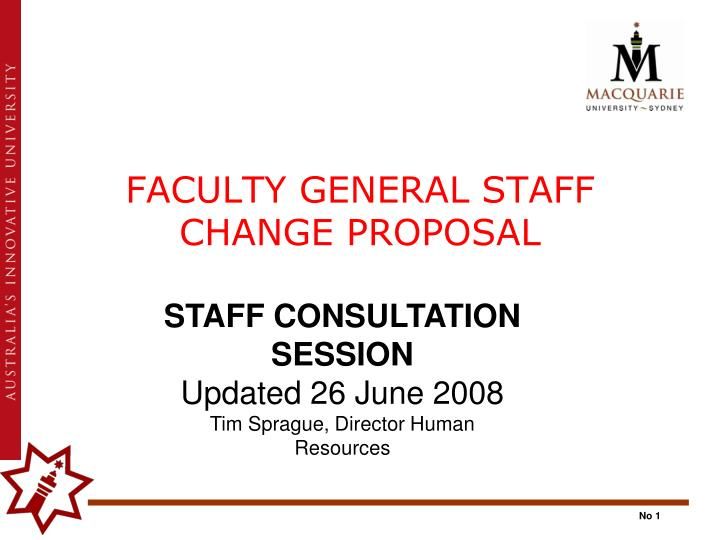 faculty general staff change proposal n.
