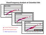 flood frequency analysis at columbia falls