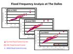 flood frequency analysis at the dalles