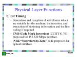 physical layer functions1
