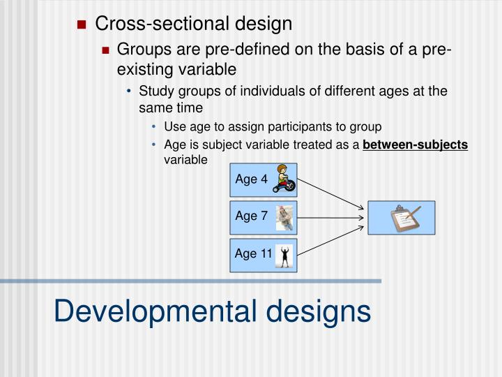 Cross-sectional design