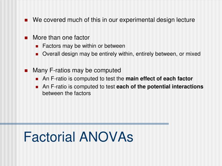 We covered much of this in our experimental design lecture