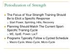 periodization of strength