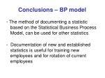 conclusions bp model